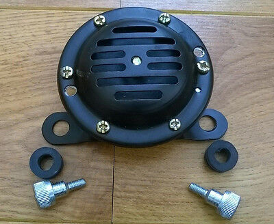 Lambretta Horn Black 12  Volt Dc. With Bolts & Rubbers. Brand New