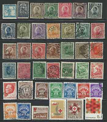 #7605 YUGOSLAVIA Interesting Lot of mostly Used Stamps
