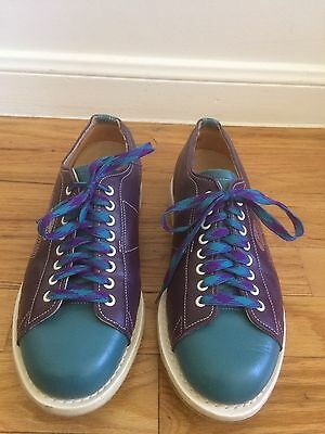 LINDS SPECIAL EDITION MENS BOWLING SHOES PURPLE/TEAL LEATHER Sz 7.5D