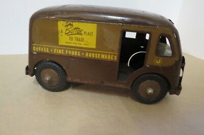 vintage jewel tea advertising panel toy truck