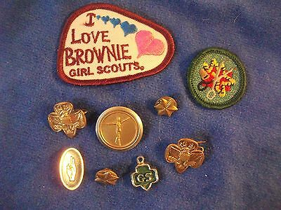 Misc. Lot of Girl Scout  Pins, Patches, Charm
