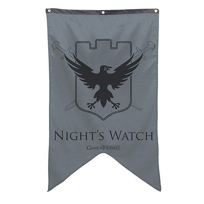 The Night's Watch Sigil Banner - Game of Thrones Crow Castle Black  Flag Poster