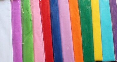 Crepe paper, 1.5m x 50cm, various colours, wrapping, floristry, craft, cards new
