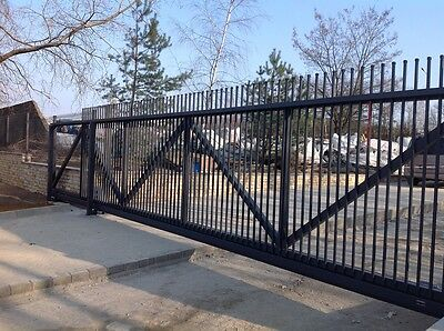 Industrial commercial iron sliding cantilever or bifold gates *highest quality*