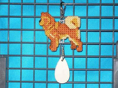FINNISH SPITZ Dog crate tag or hang anywhere pet art needlepoint ornament