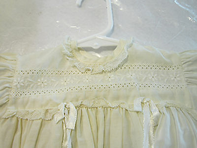 Vintage Embroidered Cotton Baby Dress