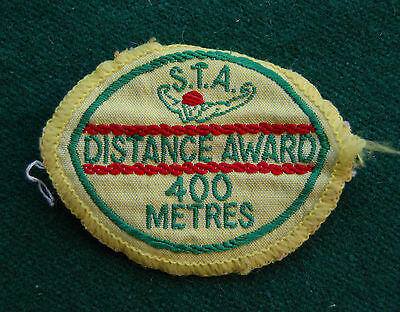 International S.T.A Distance Award 400 Metres Patch/Cloth Badge Vintage Swimming