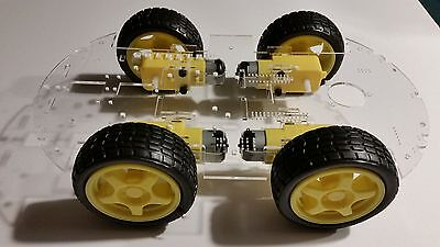 GoldSTEM Arduino 4WD Smart Car Robot Chassis with light option