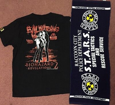 Resident Evil Revelations 2 - Claire Redfield - T-shirt - Size M + STARS Towel