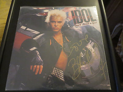 Billy Idol signed Dont need a gun lp
