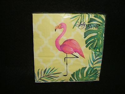 Tropical Flamingo paper beverage napkins USE FOR DECOUPAGE
