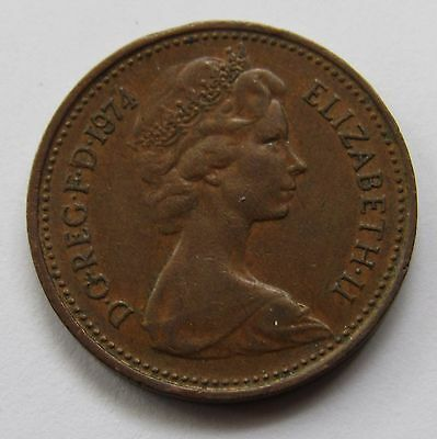 Great Britain New Penny, 1974