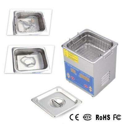 Stainless Steel 1.3L Liter Industry Heated Ultrasonic Cleaner Heater w/Timer New