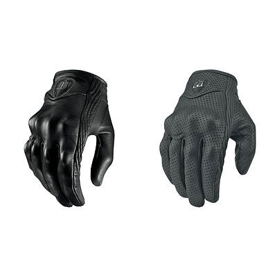Icon Mens Black Pursuit Motorcycle Riding Gloves - Choose Size & Style