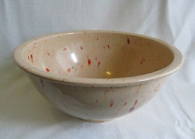 Unmarked Texas Ware Confetti Melmac Melamine Speckle #118 Tan Mixing Bowl 10in