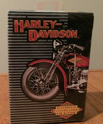 Harley Davidson Historical Playing Cards---1903-1950-New