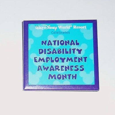 Walt Disney World National Disability Employment Awareness Month Pin Button Wdw