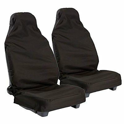 HYUNDAI COUPE 2002 ON Heavy Duty Black Waterproof Car Seat Covers - Front Pair