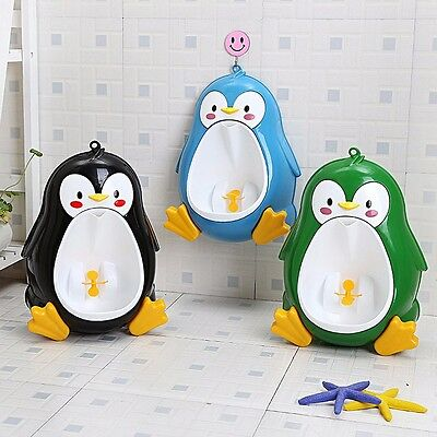 Baby Boys Penguin Toilet Potty Training Kids Toddler Urinal Bathroom Pee Trainer