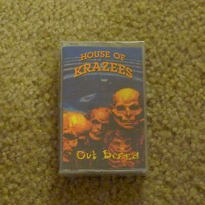 Icp Twiztid House Of Krazees Out Breed New Sealed Rare Blue Cassette Tape