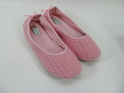 Patricia Green 100% Wool Upper Cassie Pink Slipper Shoes Size 8