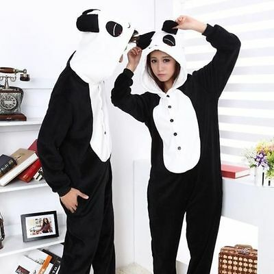NEW  Unisex Adult Pajamas Kigurumi Cosplay Costume Animal Sleepwear Panda