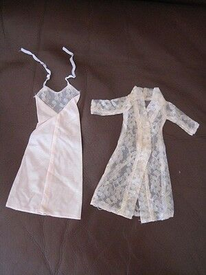 Vintage Barbie Clone Jc Penney Real Teen Wardrobe Lace Robe And Nightgown