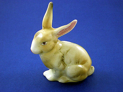 Genuine Vintage Hand Made European Porcelain Rabbit Figurine