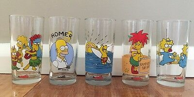 Set of 5 Simpsons Drinking Glasses