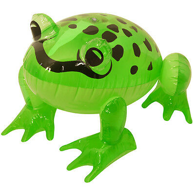 1PC Inflatable Blow Up Frog 37 cm Plastic Green Party Graden Accessory Toy Gift