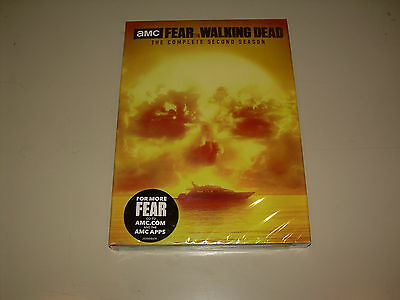 Complete Second Season 2 Two Sealed NEW FEAR THE WALKING DEAD (DVD, 5 DISC SET)