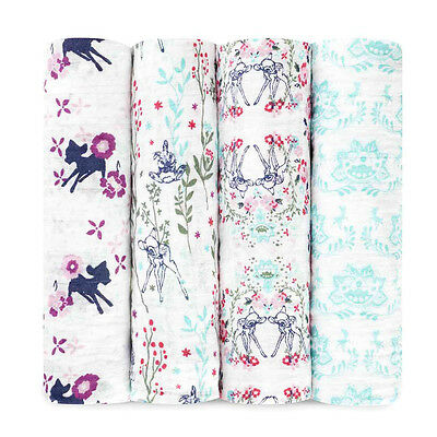 Aden and Anais - Disney Baby Classic Swaddles 4-pack Bambi