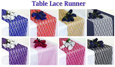 25 PCS Wedding 12 x 108 inch Lace Table Runner For Wedding Banquet Decor Runner