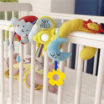 Baby Activity Toy Spiral Cot Crib Car Seat/Stroller Infant Rattle Toys Gift N7