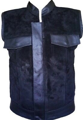 """Sons Of Anarchy"" Vest Suede Style Leather Biker Rider Motorcycle Classic Vest"