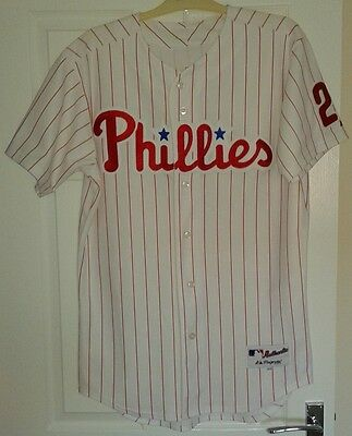 Majestic - Chase Utley Philadelphia Phillies Authentic Home Jersey - Size 44
