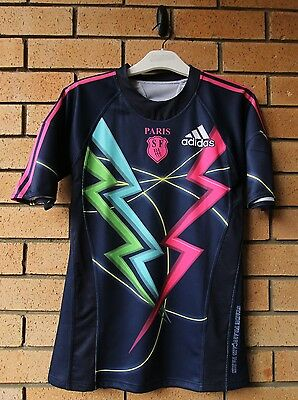 Stade Francais Paris Men's Adidas Rugby Jersey Rare! Medium Tight Fitting