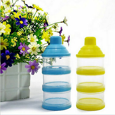 3 Layer Portable Baby Milk Powder Formula Dispenser Container Foood Storage Box