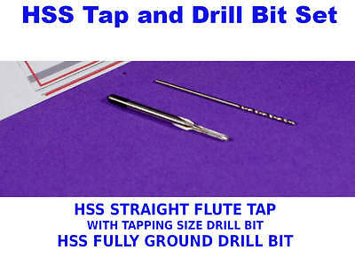Drill & Tap Set   HSS Straight Flute Tap and Tapping HSS Drill Bit  M1 to M2.5