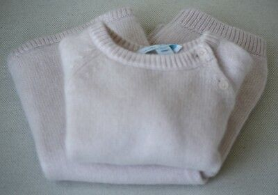 Marie Chantal Baby Pink Cashmere Jumper And Leggings Set 12 Months