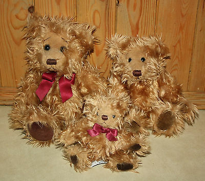 Russ Berrie GREGORY Family of 3 Bears Small Medium & Large