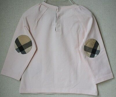 Burberry Baby Pink Top With Check Elbows 12 Months
