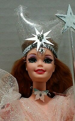 Barbie as Glinda The Good Witch Of Oz Unboxed 1995 Wand Shoes Stand Holiday Gift