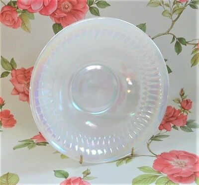 Federal Glass Moonglow Serving Bowl Vintage USA Made Lustre Iridescent Tableware