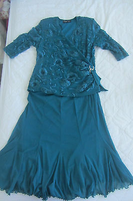 Mother of the Bride Teale Outfit Size 14 (WILL POST)