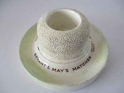 Vintage Mintons Bryant & May's Matches Advertising Match Striker / Holder