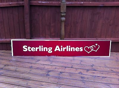 Sterling Airlines VERY Rare Airline History Aviation Sign Unique Collectors Item