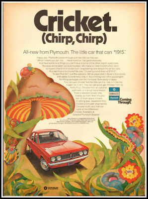 1971 vintage ad for Plymouth Cricket Automobiles-904