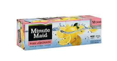 Minute Maid Pink Lemonade - AMERICAN IMPORT SODA - Rare 12 Pack (12x 355ml cans)