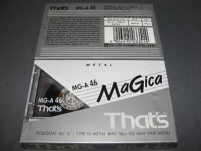 Audio Cassette That's Mg-A46' Metal ..10 Pcs New Sealed
